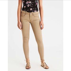 American Eagle khaki Jeggings skinny pants